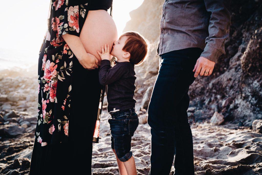 Rainbow pregnancy, maternity photos